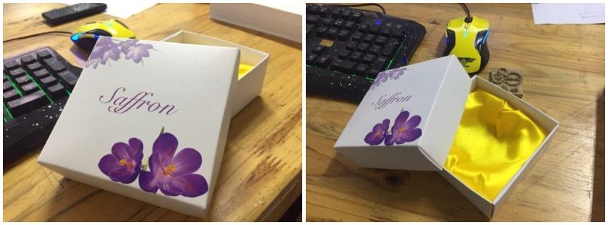 In hộp đựng saffron