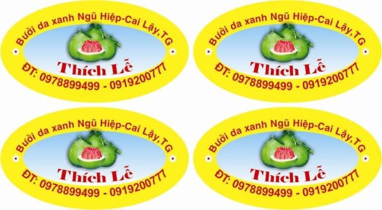 In tem dán trái cây giá rẻ