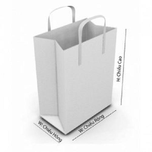 Kích thước thông dụng của túi giấy