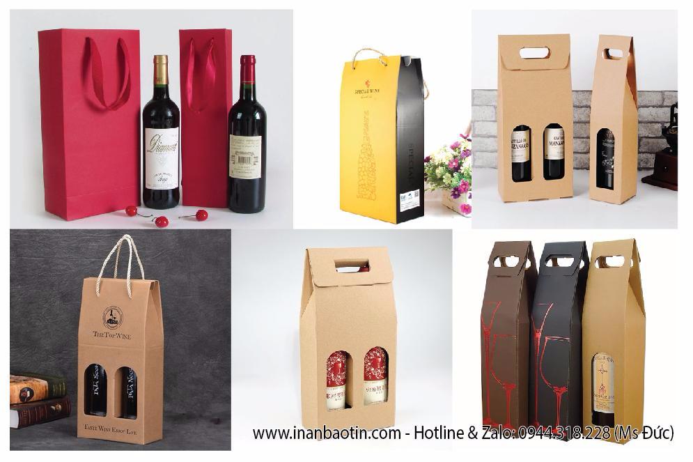 In túi giấy đựng rượu giá rẻ tại TP.HCM