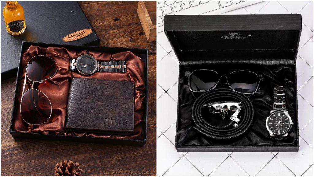 Hộp đựng combo bóp ví - kính - đồng hồ - thắt lưng