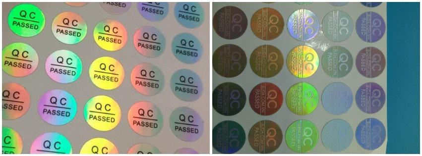 In tem QC Pass 7 màu giá rẻ