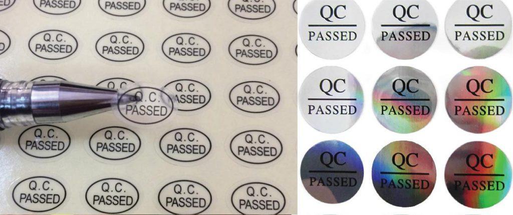 In tem QC pass giá rẻ