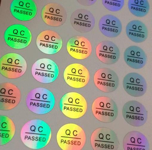 In tem QC Pass 7 màu
