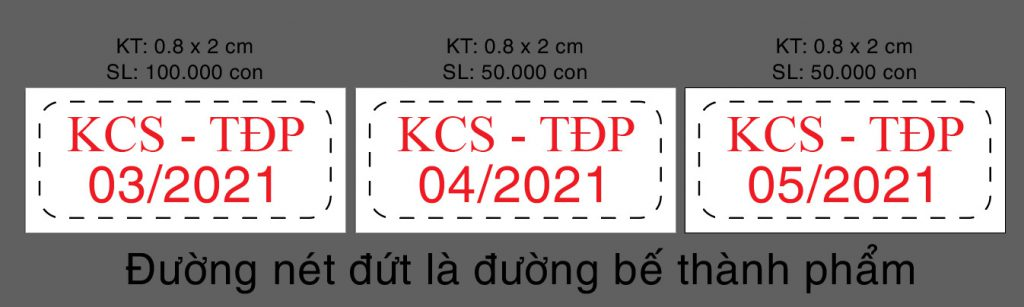 In tem KCS - TĐP giá rẻ
