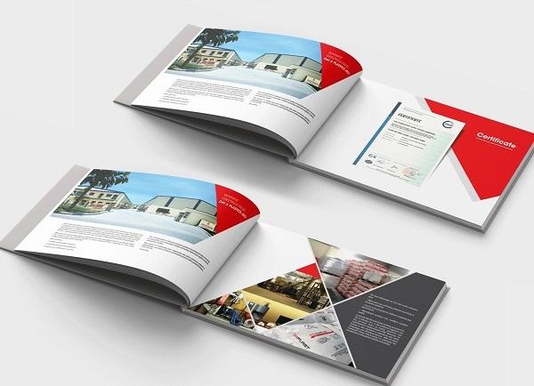 Cuốn catalogue bắt mắt, nội dung tóm gọn giúp khách hàng dễ tìm hiểu sản phẩm của bạn