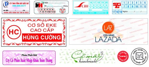 Decal tem vỡ được ứng dụng trong nhiều lĩnh vực khác nhau