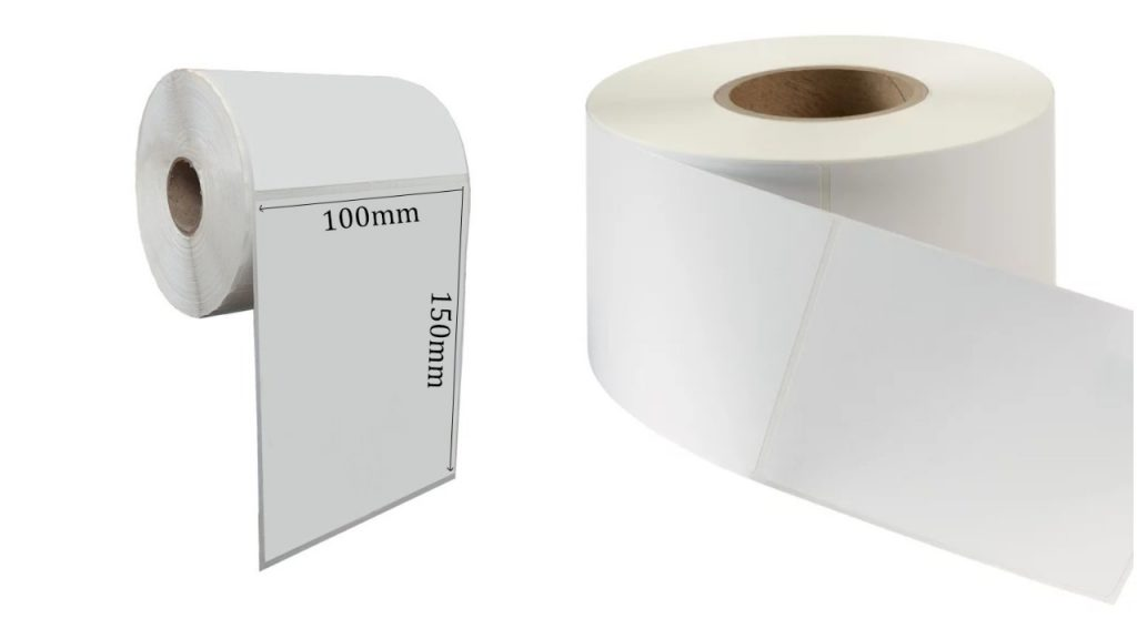 Decal giấy bế trắng dạng cuộn