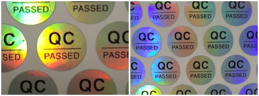 In tem QC Pass 7 màu có sẵn giá rẻ